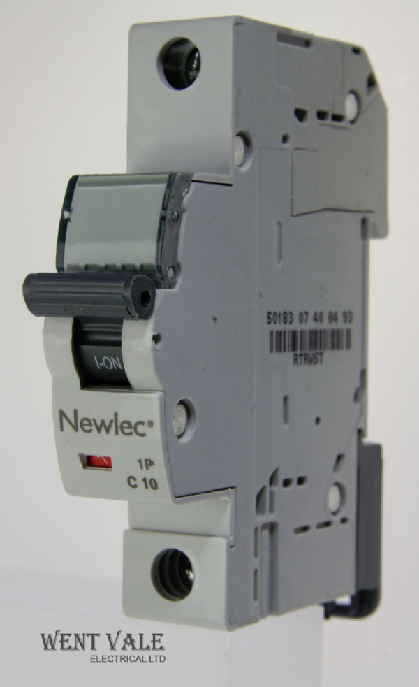Newlec - NLMB110CA - 10a Type C Single Pole MCB Latest Model NEW